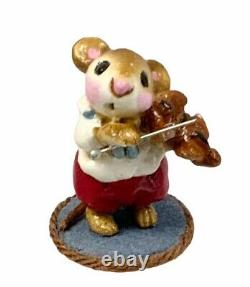 1978 Wee Forest Folk Mouse Violinist Retired 1984 RARE