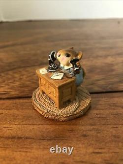Annette Petersen Wee Forest Folk Office Mousey 1982 Retired Rare