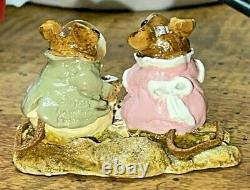 Created by Wee Forest Folk Mice M-074 Tea for Two RETIRED 1982