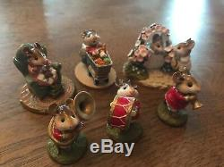 Mint Wee Forest Folk Retired Lot Of 6 Marching Band Set With WFF Boxes & More