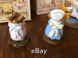 REDUCED! Wee Forest Folk LOT 6 Figurines Rare And Retired withOriginal Box
