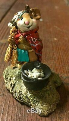 Rare Wee Forest Folk Retired Chief Mouse-Asoit Mint With WFF Box