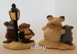 VTG Retired Wee Forest Folk- Lamplight Carolers & Snowmouse & Friend EXCLNT