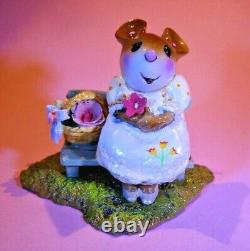WEE FOREST FOLK M-483 Mother's Rosy Posies (yellow dress) Retired