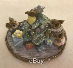 WFF 2006 now RETIRED Wee Forest Folk TIME TO TRIM Mice decorating Christmas Tree