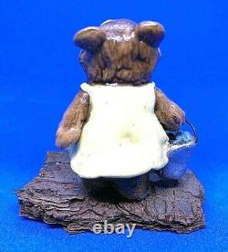 Wee Forest Folk 1977 (1st Year) Girl (and) Boy Blueberry Bear(s) Retired 1982