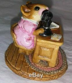 Wee Forest Folk 1982 Office Mousey Retired Petersen Mice Rare