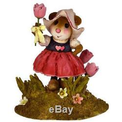 Wee Forest Folk A TULIP FOR YOU! , M-566, Retired Dutch Miniature Mouse
