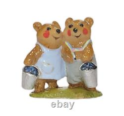 Wee Forest Folk BR-01m Blueberry Bears MINI Event Special RETIRED