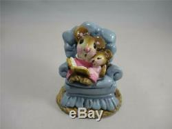 Wee Forest Folk Babysitter Early Version Blue Retired in 1981 Older WFF Box