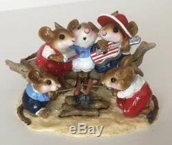 Wee Forest Folk Beach Party RWB Retired Limited Edition Adorable
