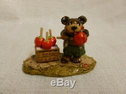 Wee Forest Folk Bear Faire Halloween Edition bb-16 Retired Mouse Apples
