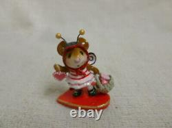 Wee Forest Folk Bee Mine Limited Edition M-414a Mouse Valentine Heart Retired