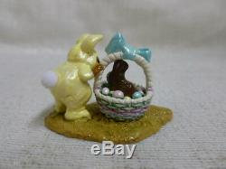 Wee Forest Folk Bunny In A Basket Yellow Easter Edition M-251 Retired