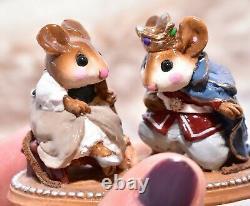 Wee Forest Folk C-1 Cinderella's Slipper with Prince RETIRED Wedding Mice
