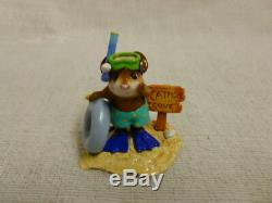 Wee Forest Folk Catfish Cove Special Edition Turquois M-293 Mouse Beach Retired