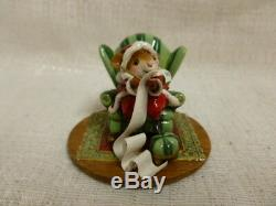 Wee Forest Folk Checking It Twice Christmas Special M-473c Retired