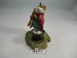 Wee Forest Folk Chief Mouse-Asoit Retired in 1997 WFF Box