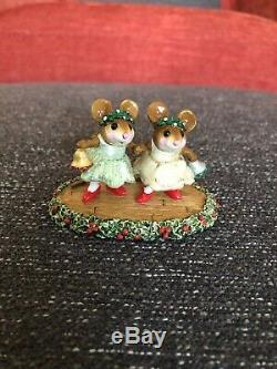 Wee Forest Folk Christmas Bells Holiday Special M-304c Retired Green Yellow