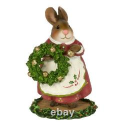 Wee Forest Folk Christmas Bunny Figurine Finishing Touches B-24