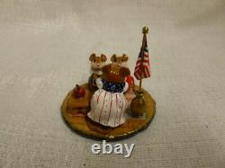 Wee Forest Folk Country Classroom Fourth of July Special M-268 Retired