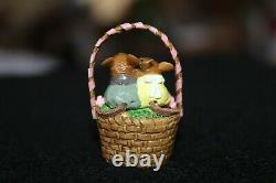 Wee Forest Folk Cozy Easter Couple M-523 2015 William Peterson Retired Great Con