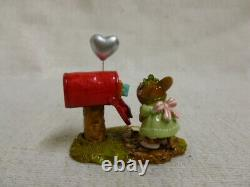 Wee Forest Folk Cupid's Special Delivery M-383a Mouse Valentines Heart Retired