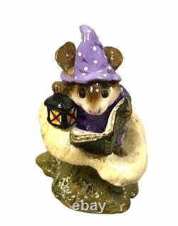 Wee Forest Folk Elf Tales M-163 PURPLE RETIRED With Box RARE