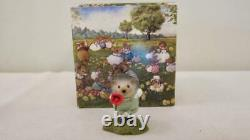 Wee Forest Folk FB-2 Hedgehog With Flower 2007 Retired 2008 With Box