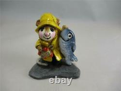 Wee Forest Folk Fisher Mouse M-041 Retired Wonderful Vintage WFF! Older Box
