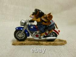 Wee Forest Folk Free Wheelin Fourth of July Special M-314a Retired Motorcycle
