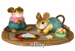 Wee Forest Folk GAME NIGHT! , WFF# M-611, Chinese Checkers Mouse, Retired