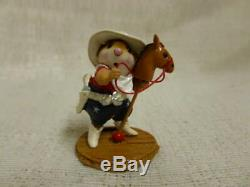 Wee Forest Folk Giddy Up Fourth of July Special M-312a Retired Horse Cowboy