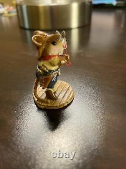 Wee Forest Folk Giddyup Special Edition M-312 Mouse Horse Cowboy Retired