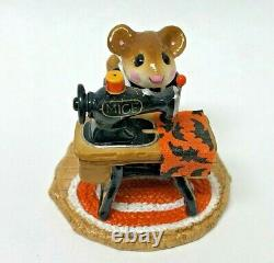 Wee Forest Folk Halloween MISS BOBBIN Special FTF Mouse Sewing Retired withWFF Box