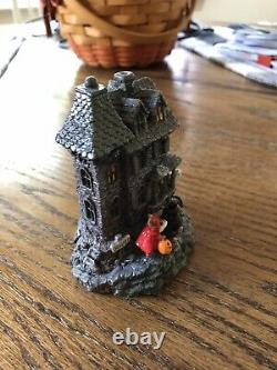 Wee Forest Folk Halloween The Haunted Mouse House 1989 Retired D Peterson Signed
