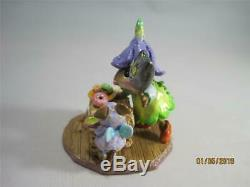 Wee Forest Folk Halloween on a hay Bale Retired WFF New in Box