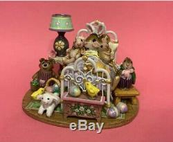Wee Forest Folk Happiest Easter 2018 Ltd Edition Bed New WFF = RETIRED