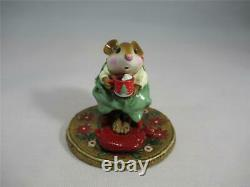 Wee Forest Folk Hot Cocoa Christmas Limited Edition Retired 2002 Cute WFF