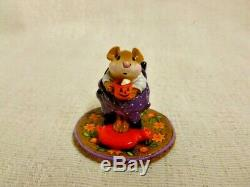 Wee Forest Folk Hot Cocoa Halloween Edition M-269s Retired Mouse Pumpkin