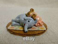 Wee Forest Folk Jumbo Pillow Special Edition Blue Elephant M-356 Retired