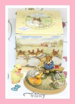 Wee Forest Folk Just Ducky PM-4 2001 RETIRED William Petersen Mouse Duck