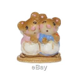 Wee Forest Folk M-07m Two Mice with Candle MINI Event Special RETIRED