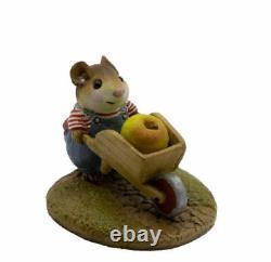 Wee Forest Folk M-104 Harvest Mouse Apple (RETIRED)