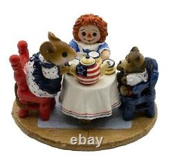 Wee Forest Folk M-177 Tea for Three Flag Teapot Special (Retired)