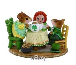 Wee Forest Folk M-177e St Patrick's Day Tea for Three Limited (RETIRED)