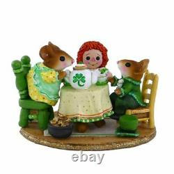 Wee Forest Folk M-177e Tea for Three St. Patrick's Day (Retired)