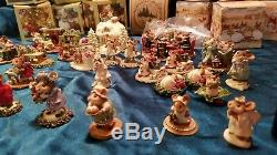 Wee Forest Folk M-191 Christmas Eve retired mice figurine 1993