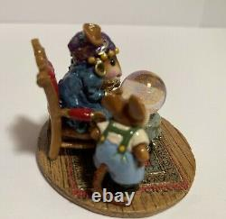 Wee Forest Folk M-2000 Millennium Crystal Clear Mouse Retired
