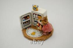 Wee Forest Folk M-201 Midnight Snack Pink Retired OOP Mint Out of Box